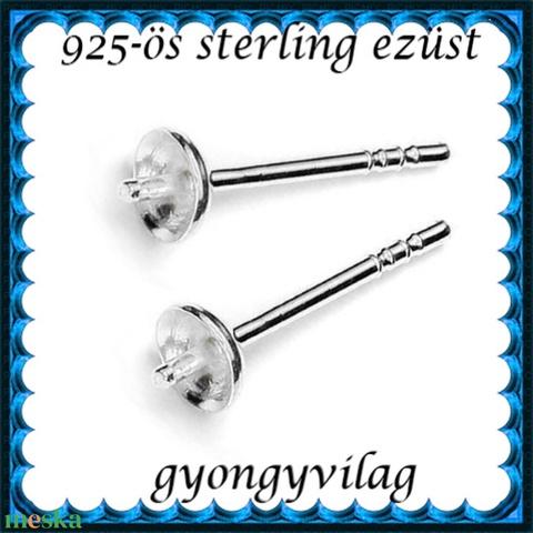 925-ös ezüst fülbevaló kapocs EFK B 12-4 (gyongyvilag) - Meska.hu