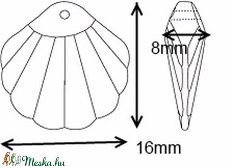 Ékszerkellék: Swarovski kagyló 16mm-es  több színben  - Meska.hu