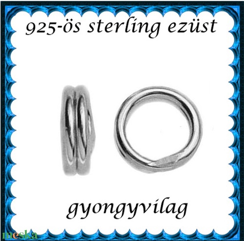 925-ös ezüst szerelőkarika dupla ESZK D 0,6 x 7mm-es  - Meska.hu