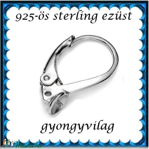 925-ös sterling ezüst ékszerkellék: fülbevalóalap biztonsági kapoccsal EFK K 26r (gyongyvilag) - Meska.hu