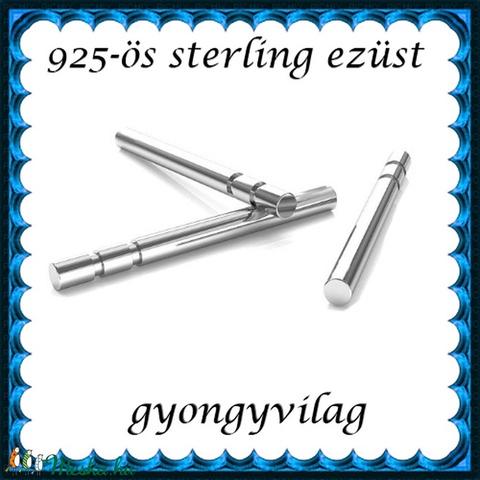 925-ös ezüst fülbevaló kapocs EFK B 40-13 - gyöngy, ékszerkellék - egyéb alkatrész - Meska.hu