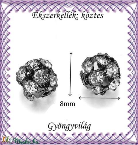 Ékszerkellék: köztes / díszítőelem / gyöngy BKÖ 1S 36-8f crystal  4db/csomag - Meska.hu