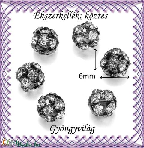 Ékszerkellék: köztes / díszítőelem / gyöngy BKÖ 1S 36-6f crystal  5db/csomag - gyöngy, ékszerkellék - fém köztesek - Meska.hu