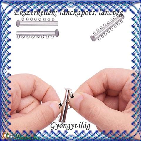 Ékszerkellék: lánckapocs BLK-8S-01A mágneses lánckapocs - gyöngy, ékszerkellék - egyéb alkatrész - Meska.hu