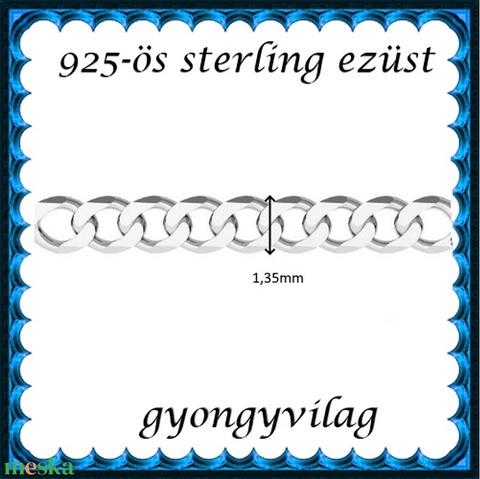 925-ös sterling ezüst ékszerkellék: lánc méterben 925 EL06-1,35e - Meska.hu