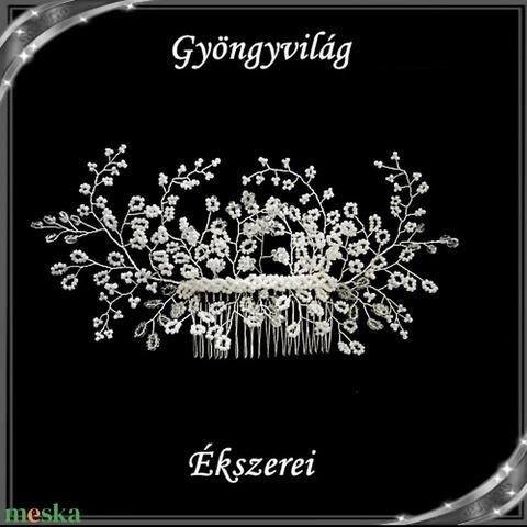 Ékszerek-hajdíszek, hajcsatok: Esküvői, menyasszonyi, alkalmi hajdísz S-H-FÉ03e - esküvő - hajdísz - kontydísz & hajdísz - Meska.hu