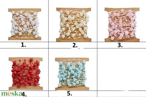 Ékszerkellék: akril gyöngy/füzér, GYA F 3-8 több színben 2m/csomag - gyöngy, ékszerkellék - műanyag gyöngy - Meska.hu