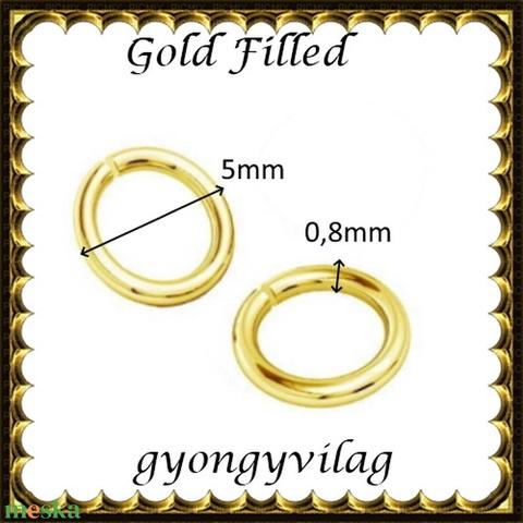 925-ös ezüst karika ESZK NY gold filled 5x0,8  2db/csomag - Meska.hu