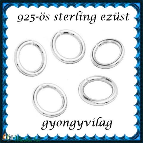 925-ös ezüst szerelőkarika nyitott ESZK NY 3x0,6 mm-es   10db/csomag - gyöngy, ékszerkellék - egyéb alkatrész - Meska.hu