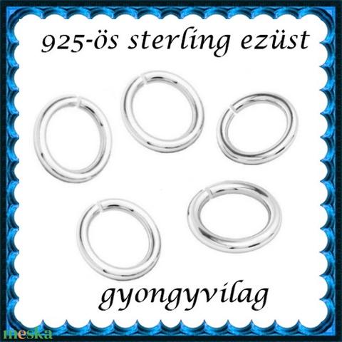 925-ös ezüst szerelőkarika nyitott ESZK NY 3,5x0,6 mm-es  - Meska.hu