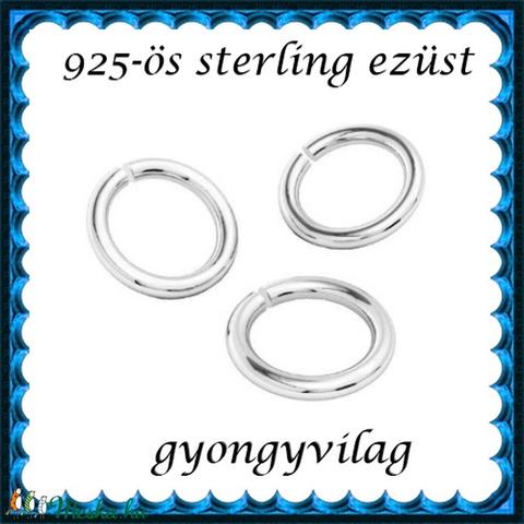 925-ös ezüst szerelőkarika nyitott ESZK NY 6x0,8 mm-es  3db/csomag - Meska.hu