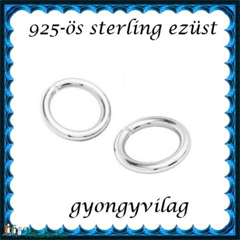 925-ös ezüst szerelőkarika nyitott ESZK NY 7 x 0,8 mm-es  2db/csomag - Meska.hu