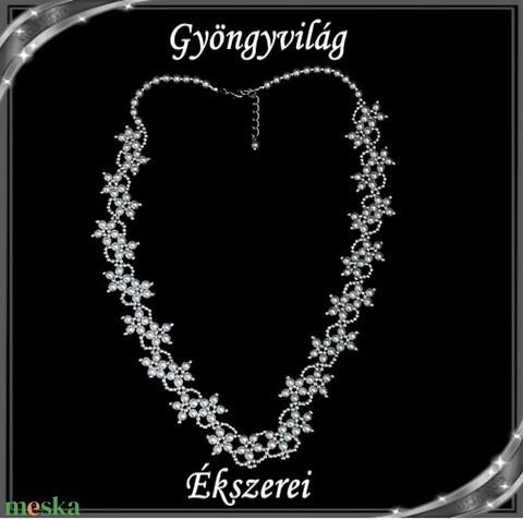 Esküvői, menyasszonyi, alkalmi ékszer szett,  SSZEB-GY01 fehér - Meska.hu