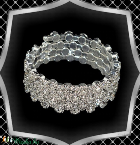 Négy soros kristály karkötő ES-K04-4e fehér - Meska.hu
