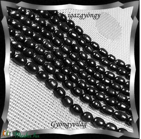 Gyöngyök: igazgyöngy/fűzér GYI-87 12mm fekete - Meska.hu