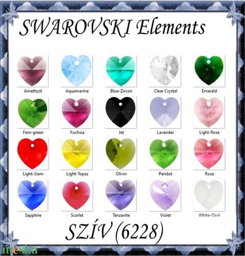 Swarovski kristály medál: SWM szív (6228) 14mm-es több színben - Meska.hu
