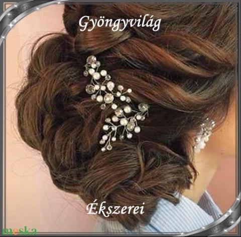 Ékszerek-hajdíszek, hajcsatok: Esküvői, menyasszonyi, alkalmi hajdísz S-H-TŰ12aa 2db/szett - Meska.hu