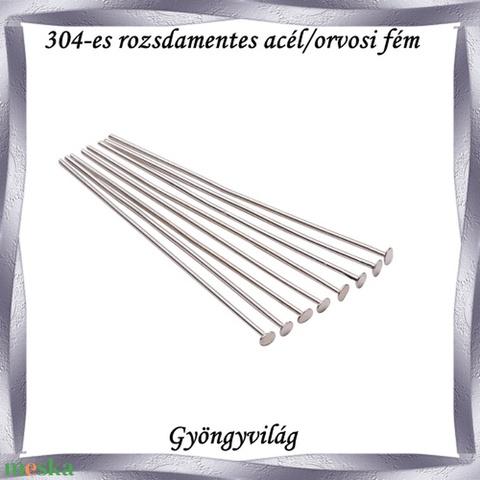 304 Nemes acél ékszerkellék: szerelőpálca NASZP SZ 25x0,5 20db/csomag - gyöngy, ékszerkellék - egyéb alkatrész - Meska.hu