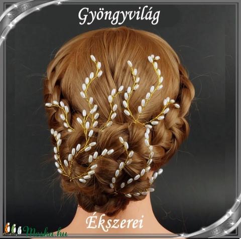 Ékszerek-hajdíszek, hajcsatok: Esküvői, menyasszonyi, alkalmi hajdísz S-H-TŰ14 több színben - Meska.hu