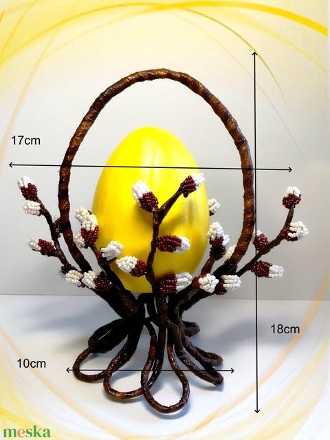 Gyöngyből készített húsvéti asztaldísz  GYV33-2s - Meska.hu