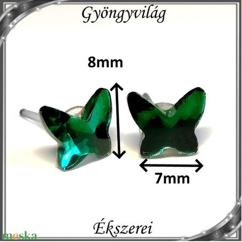 Kristály pillangó szilikon fülbevaló 8mm-es SFSZ-K03 - Meska.hu