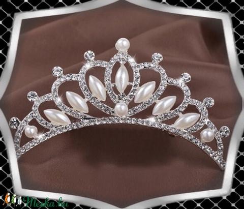 Esküvői, menyasszonyi, alkalmi hajdísz,tiara, fátyol tartó ES-HF06 - Meska.hu