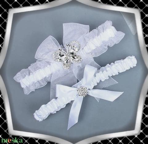 Esküvői, menyasszonyi harisnyakötő szett  ES-HK17 - Meska.hu