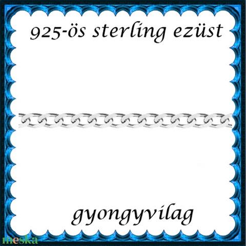 925-ös sterling ezüst ékszerkellék: lánc méterben 925 EL06-1,1e - Meska.hu