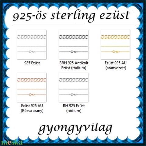 Ékszerek-karkötők: 925-ös sterling ezüst karkötő SSZ EÜK 13-20e - Meska.hu