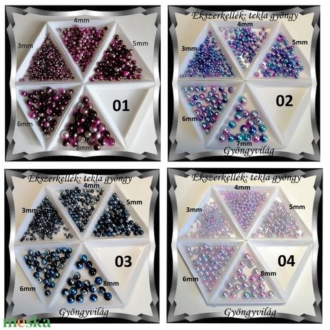 Ékszerkellék: gyöngy, viasz gyöngy GY VGYG 3-8mm szinátmenettes több színben - gyöngy, ékszerkellék - fém köztesek - Meska.hu