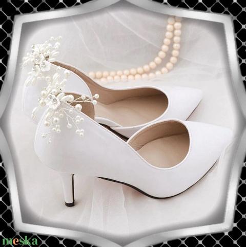 Esküvői, menyasszonyi, alkalmi cipődísz, cipőklipsz ES-CK15 - esküvő - cipő és cipőklipsz - Meska.hu