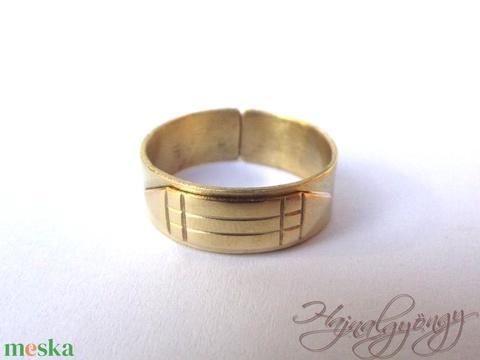 Atlantiszi gyűrű 7 mm - Meska.hu