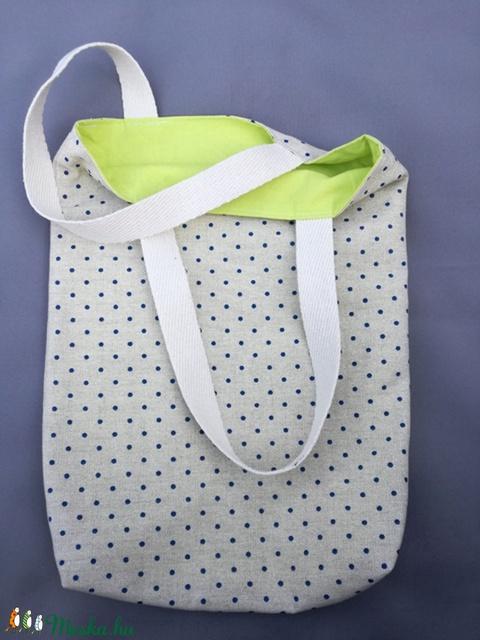Bevásárlótáska, ovis zsák, tároló (pöttyök) (hamibatyu) - Meska.hu