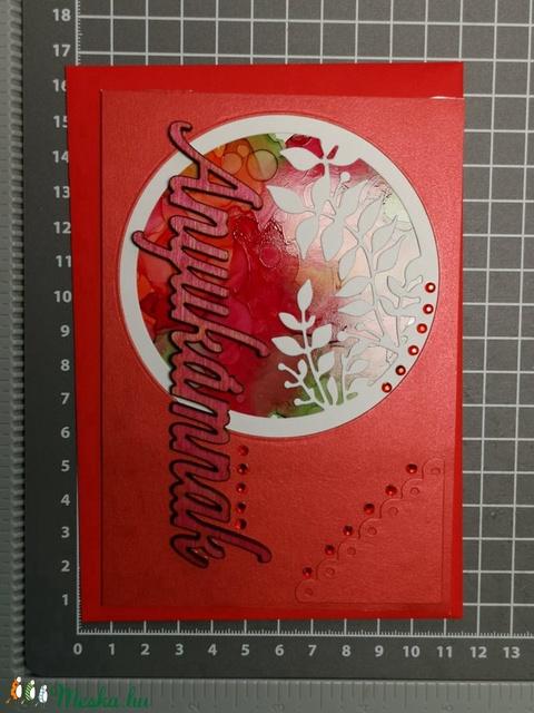 Anyák Napjára egyedi festett hátteres strasszos képeslap - Anyukának : HMB2104_030 - Meska.hu