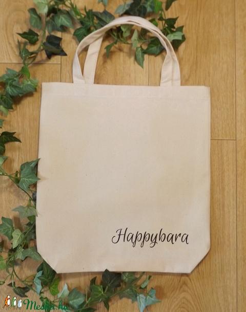 Ellenállhatatlan nyuszis erős vászontáska natúr, farmerszövésű anyagból, 1 db. Kézzel festett, mosható (Happybara) - Meska.hu