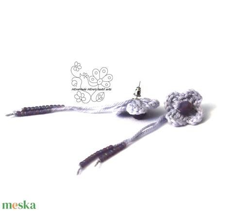 Levendula kisvirág bedugós fülbevaló (Hera) - Meska.hu