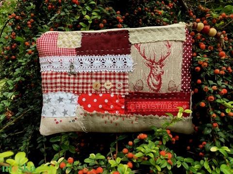 BERGEN. Karácsonyváró szarvasos patchwork neszi skandináv stílusban. - Meska.hu