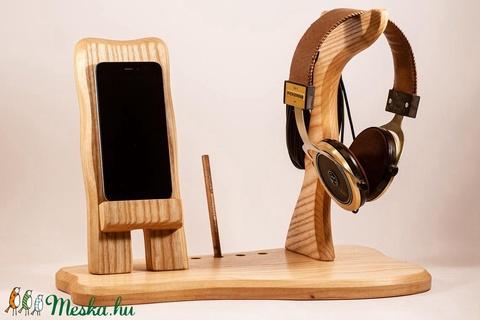 Fejhallgató, és mobil tartó, asztali rendező - Meska.hu