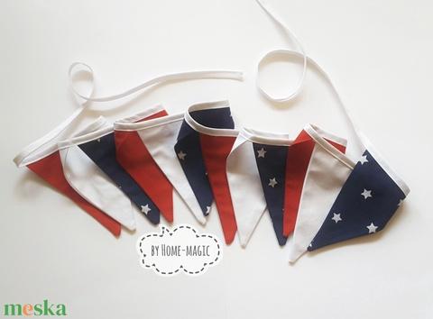 Zászlófüzér, bunting, girland - Amerika, USA - Meska.hu