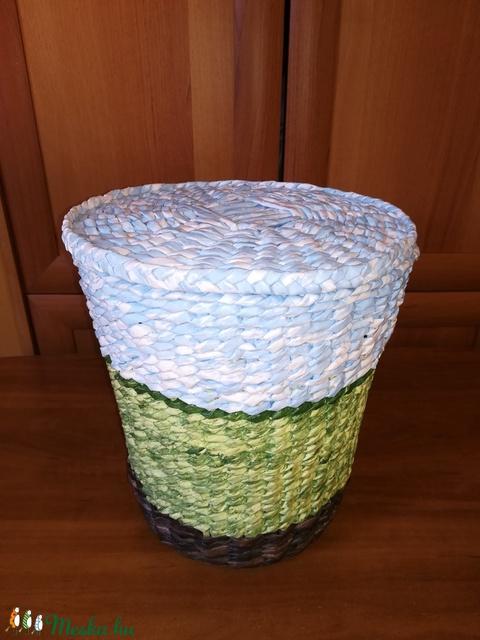 Papír, papírhulladék gyűjtő, zöld, kék, barna  (Hopotoo) - Meska.hu