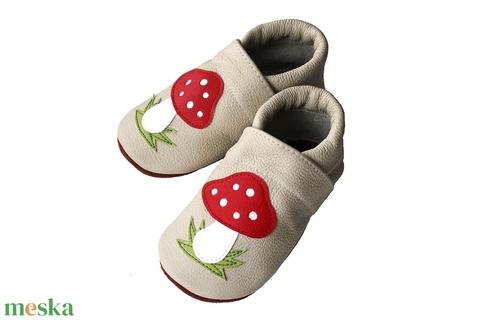 Hopphopp puhatalpú cipő - Gombás / Beige (Hopphopp) - Meska.hu