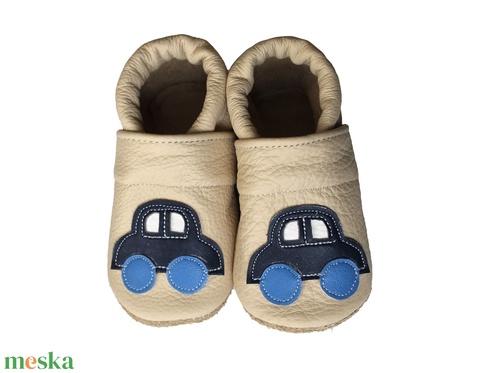Hopphopp puhatalpú cipő - Autós/Beige - Meska.hu