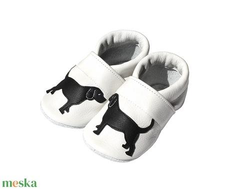 Hopphopp puhatalpú cipő - Labrador/Fehér (Hopphopp) - Meska.hu