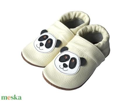 Hopphopp puhatalpú cipő - Panda/Bézs - Meska.hu