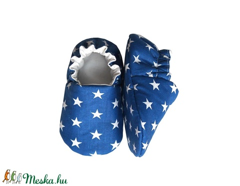 Kék fehér csillagos kocsicipő  (Hopphopp) - Meska.hu
