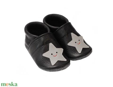 Hopphopp puhatalpú cipő - Csillagos/Mosolygós (Hopphopp) - Meska.hu
