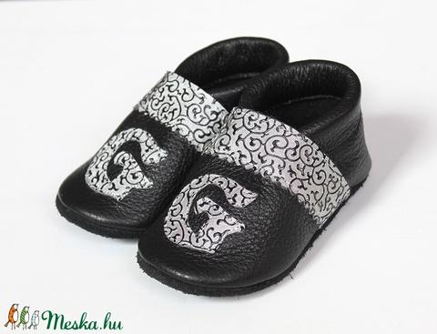 Hopphopp puhatalpú cipő - Monogramos - Keresztelőre/Esküvőre/Alkalmakra (Hopphopp) - Meska.hu
