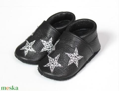 Hopphopp puhatalpú cipő - Csillagos - Keresztelőre/Esküvőre/Alkalmakra (Hopphopp) - Meska.hu