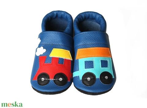 Hopphopp puhatalpú cipő - Vonatos/Kék (Hopphopp) - Meska.hu