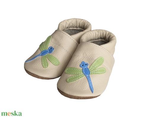 Hopphopp puhatalpú cipő - Szitakötős/Bézs (Hopphopp) - Meska.hu